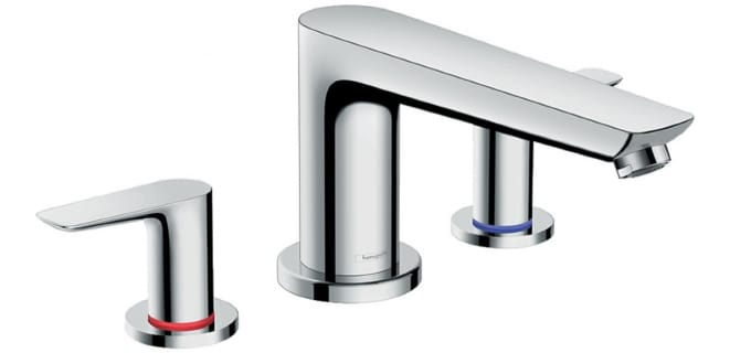 A 3-hole mixer tap from Hansgrohe.
