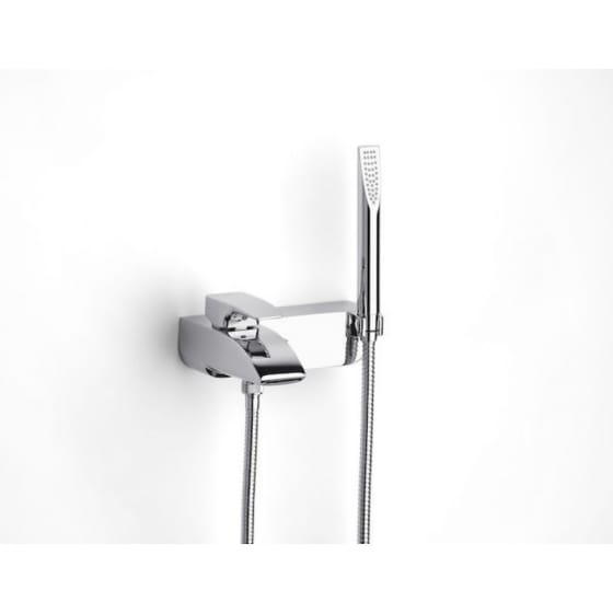 Image of Roca Thesis Wall Mounted Bath-Shower Mixer Valve With Shower Kit
