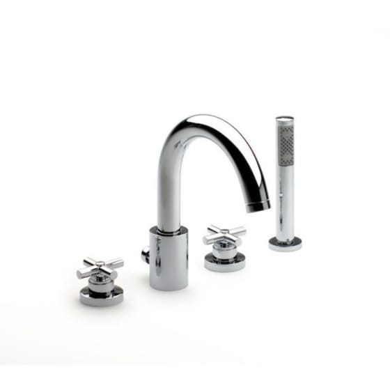 Image of Roca Loft 4 Hole Deck Mounted Bath Mixer Tap Set