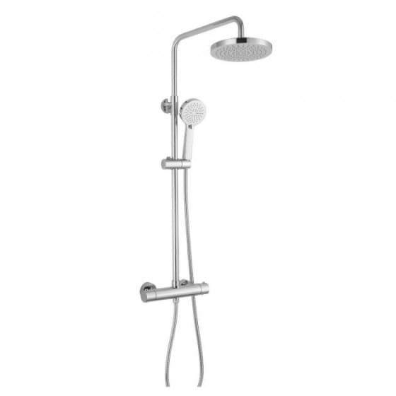 Image of RAK Cool Touch Thermostatic Shower Column with Fixed Head & Shower Kit