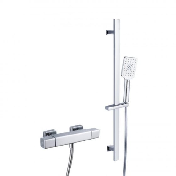 Image of RAK Cool Touch Thermostatic Bar Shower Valve with Slider Rail Kit