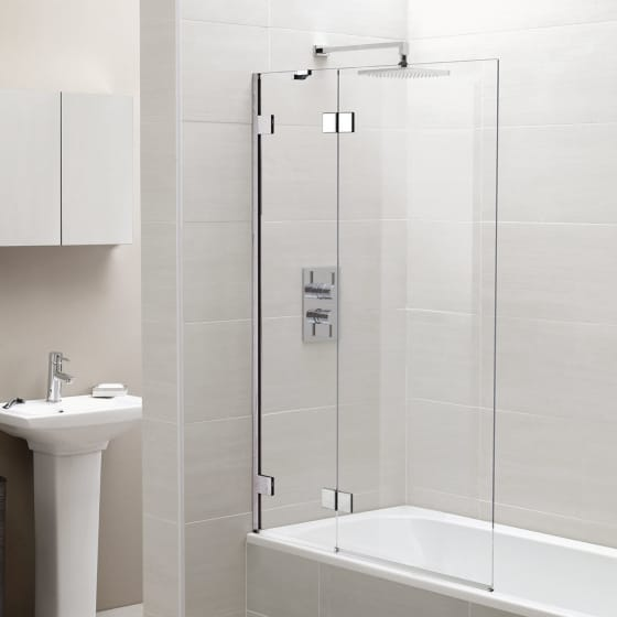 Image of April Identiti2 Two Panel Infold Bath Screen