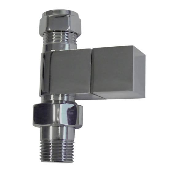 Image of Essential Square Straight Radiator Valve