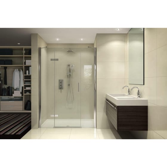Image of Aqata Spectra Hinged Shower Door with 2 In-line Panels
