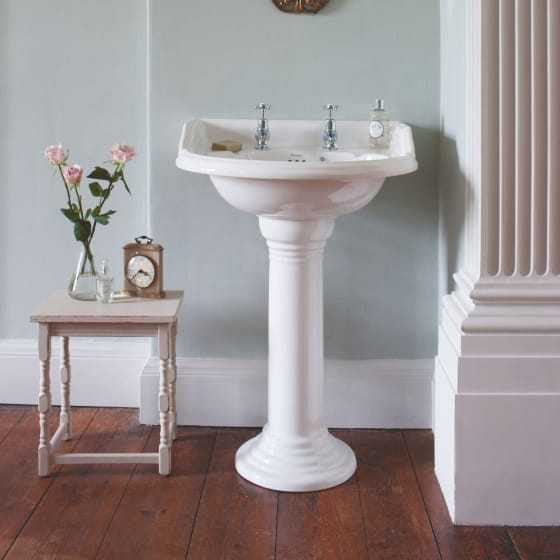 Image of Burlington Round 650mm Basin with Classic Pedestal
