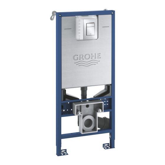 Image of Grohe Rapid SLX 3 In 1 Wall Hung Toilet Frame Pack With Flush Plate