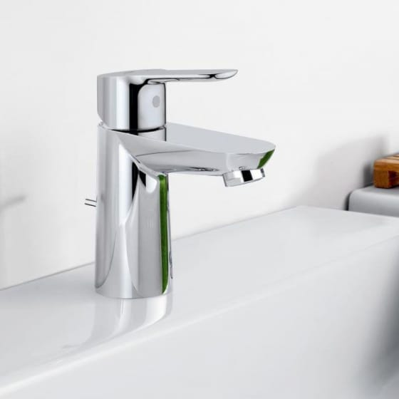 Image of Grohe BauEdge Mono Basin Mixer Tap With Pop-up Waste