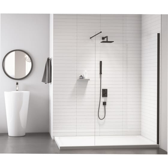 Image of Merlyn Black Frameless Showerwall