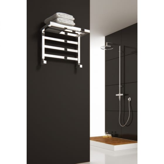Image of Reina Elvina Steel Heated Towel Rail & Shelf