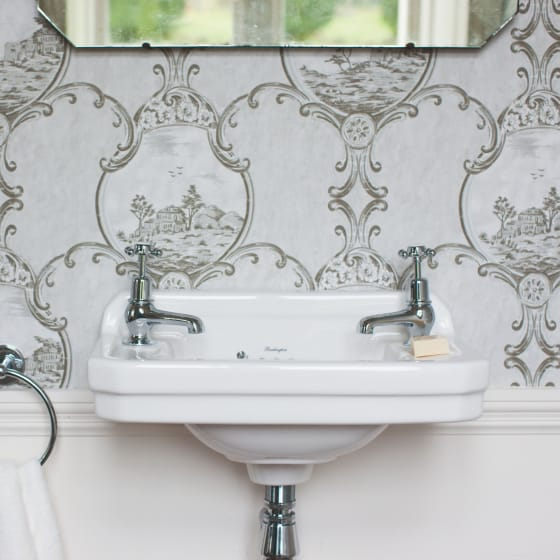 Image of Burlington Edwardian Rectangular Cloakroom 515mm Basin