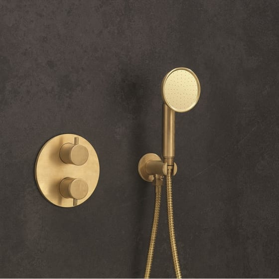 Image of Crosswater MPRO Industrial Single Mode Shower Handset With Wall Outlet & Hose