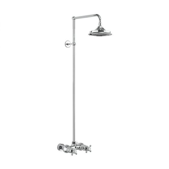 Image of Burlington Eden Single Outlet Thermostatic Exposed Shower Valve With Shower Head